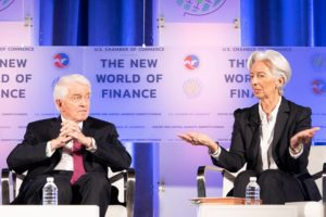 Christine Lagarde, PDG du FMI lors de du sommet The New World of Finance
