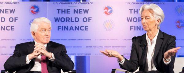 Christine Lagarde, PDG du FMI lors de du sommet The New World of Finance