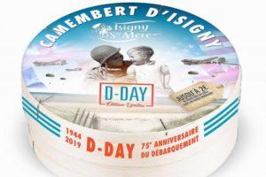 Le camembert vendu par la coopérative Isigny-Ste-Mère pour célébrer le débarquement