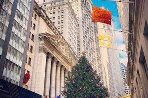 Vue du siège de Wall Street à New York