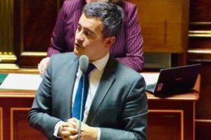 Gérald Darmanin au Parlement en 2018