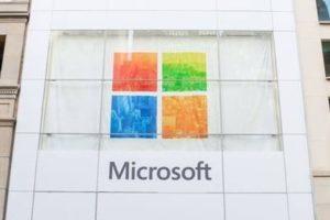 Façade du Store de Microsoft à Londres