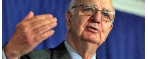 l'ancien patron de la FED, Paul Volcker, est décédé le dimanche 8 décembre 2019