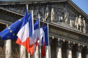 Fronton de l'Assemblée nationale française.