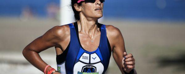 Une athlète lors d'une course à Malaga, en Espagne.