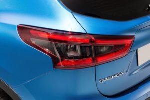 Coffre-arrière d'une Nissan Qashqai.